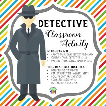 Detective Classroom Activity with Mysterious Voice Over!