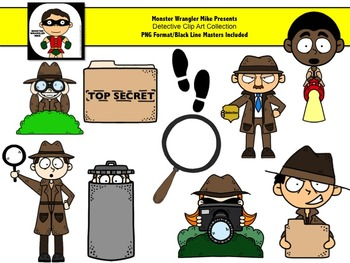 Detective Clip Art Collection