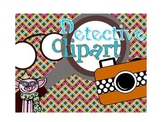 Detective Clipart - Commercial and Personal Use