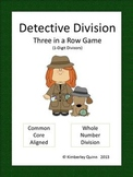 Detective Division Three in a Row: Whole Numbers w/ 1-Digi