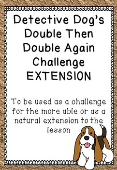 Detective Dog's Doubling Task Cards {year2tastic}