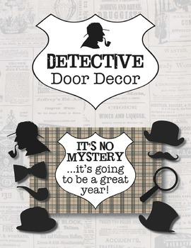 Detective Door Decoration *Editable*