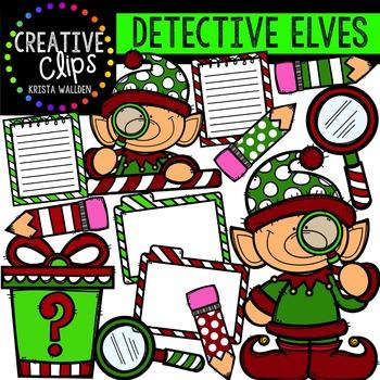 Detective Elves {Creative Clips Digital Clipart}