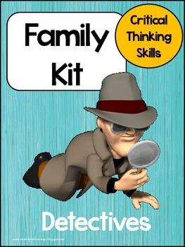 Literacy Activities - Detective Family Kit