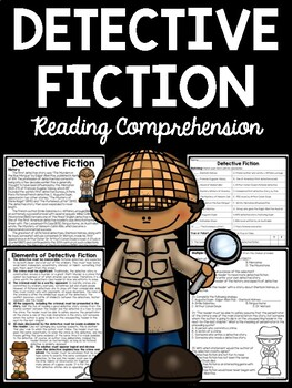 Detective Fiction overview Reading Comprehension Worksheet, Edgar Allan Poe