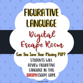 Detective Figurative Language Escape Room! Great for Test Prep! - High Interest!