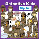 Detective Kids Clip Art