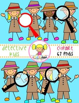Detective Kids Clipart
