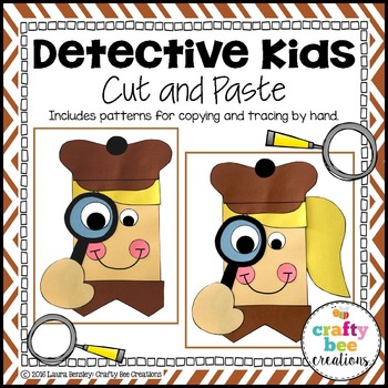 Detective Kids Cut and Paste
