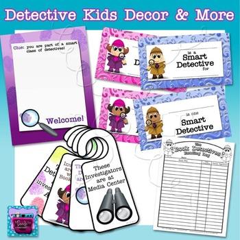 Detective Kids & Investigator Class Decor Bundle