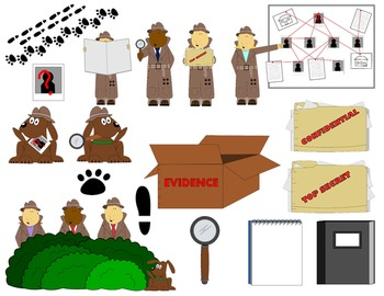 Detective Kids Clip Art and Investigator items