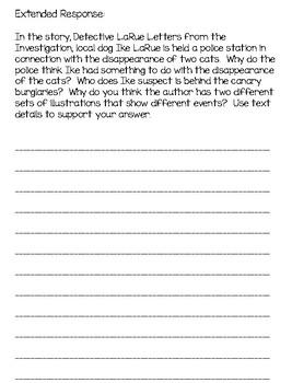 Detective LaRue - Level N - Text Dependent Questions