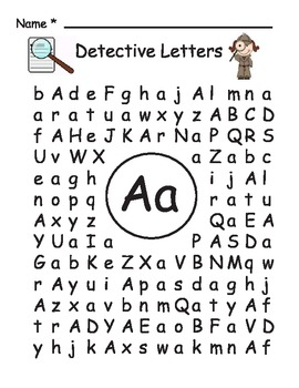find words with these letters and one blank detective letters by suzi teachers pay teachers 19617