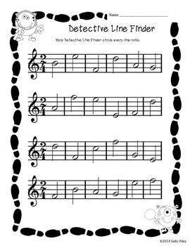 Detective Line Finder-Identify Line Notes on Music Staff