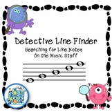 Detective Line Finder-Identify Line Notes on Music Staff