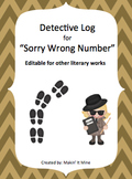 "Detective Log Booklet for ""Sorry Wrong Number"""