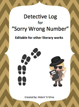 """Detective Log Booklet for """"Sorry Wrong Number"""""""
