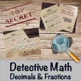 Decimals and Fractions-Detective Math Bundle