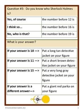 Mystery Math Goofy Glyph (Kindergarten Common Core)
