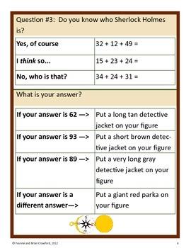 Mystery Math Goofy Glyph (2nd grade Common Core)