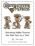 Detective Monkeys - 100's Chart Hidden Pictures