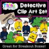 Detective Mystery Clip Art Set