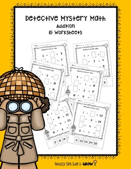 Detective Mystery Math Addition