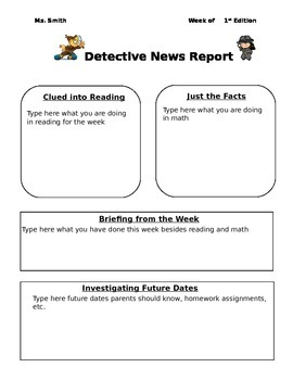 Detective Newsletter (News Report)