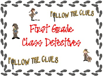 Detective Packet - First Weeks of School