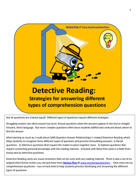 Detective Reading: Detecting Different Types of Comprehens