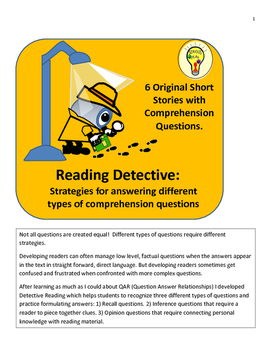 Detective Reading:Detecting Different Types of Comprehension Questions