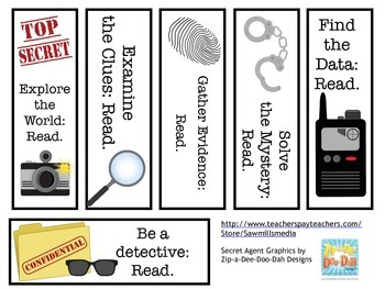 Detective Reading Encouragers - Mystery Books/Secret Agent Theme