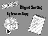 Detective Rhyme Sort