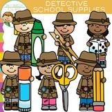School Supplies Detective Clip Art