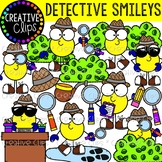 Detective Smileys Clipart {Creative Clips Clipart}