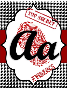 Detective / Spy Theme Alphabet