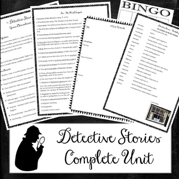 Detective Stories Unit - E. A. Poe, Arthur Conan Doyle, Roald Dahl (29 files)