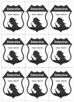 Detective Theme: Badge (Boy and Girl) K-6