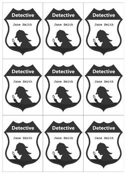 Detective Theme: Badge (Boy and Girl) K-6