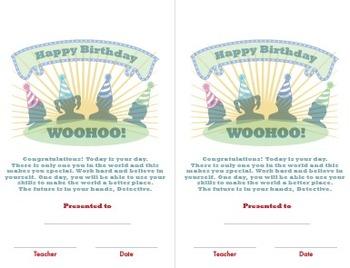 Detective Theme: Birthday Card (K-6)