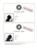 Detective Theme: Case Folder Labels, Letterheads, Diploma (K-6)