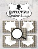Detective Theme Center Signs *Editable*
