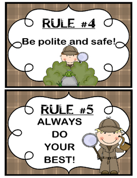Detective Theme - Classroom Rules