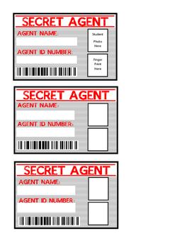 Detective Theme Door Decor - Secret Agent Cards