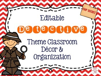 Detective Theme Editable Classroom Bundle