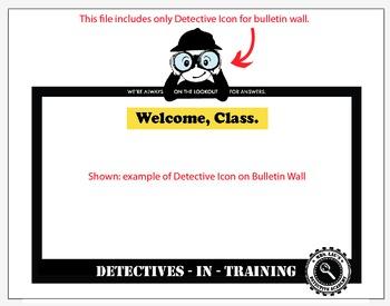 Detective Theme: Icon for Classroom Bulletin