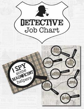 Detective Theme Job Chart *Editable*