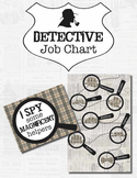 Detective Theme Job Chart *Editable*