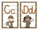 Detective Theme Large Alphabet Cards with Handwriting Lines
