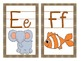 Detective Theme Large Letter Cards with Beginning Sounds a